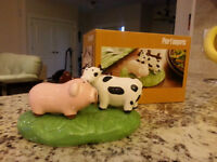 Farm Animal (Cow and Pig) Salt and Pepper Shaker from Pier One