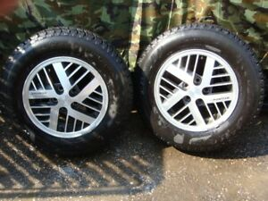 2-185 75 r14 winter tires with about 99% remaining on 5x100mm