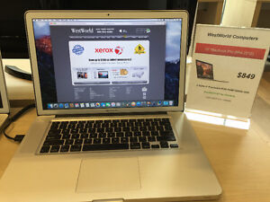 **Pre-Owned Mac Computers starting from ___$849__**