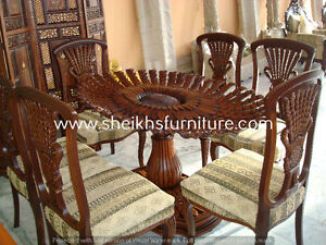 cvbdnxcv Wooden carved dining pillars and dining chairs fdhcbvbd