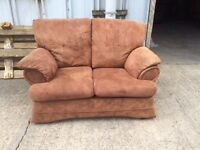Free - Brown Suede 2 Seat Sofa - Delivery Available for a Small Charge