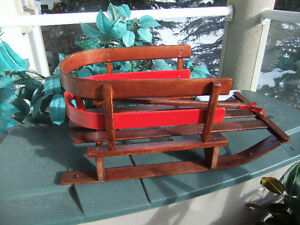 classic wooden baby sleigh