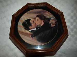 MARRY ME SCARLETT Plate #3728B in wood collector frame