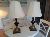 Two ornate lamps