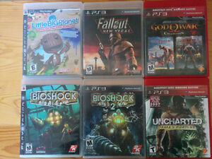 Six PlayStation 3 games
