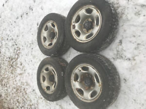 2002 Chevy tracker rims and winter tires