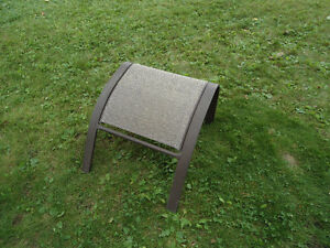 Outdoor Footstool - Metal, Brown Mesh.  Great Condition
