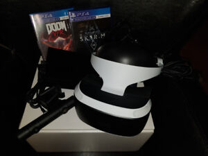 Playstation VR with Doom and Skyrim Games