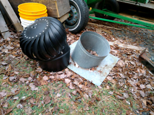 Adjustable pitch turbine style Roof Vent