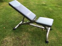 York Fitness bench plus weights