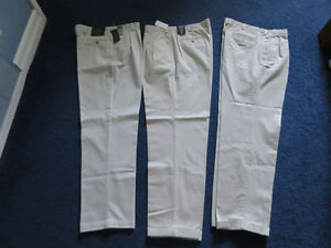 "Size 38"" waist - 34"" leg combed cotton pants...virtually new"