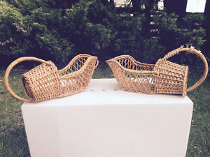 A pair of Wicker Basket for sale