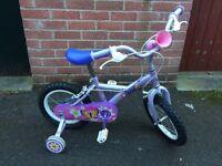Girls bike for sale age 4-6