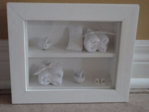 Brand new white wooden decorative bathroom theme shadow box London Ontario image 4