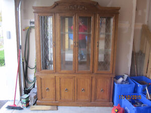 Oak China Hutch Kingston Kingston Area image 2