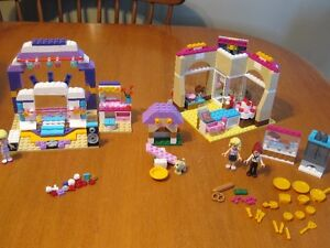 LEGO FRIENDS BAKERY REHERSAL STAGE AND DOG PLAYSETS