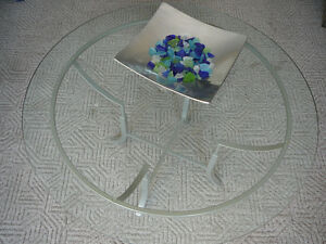Tables de salon en verre