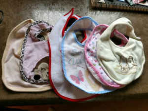 Baby bibs - mostly girl