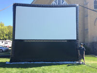 16' x 9' AIRSCEEN Aeropro Inflatable Projection Screen