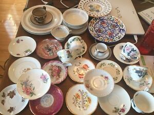Lot of dishes + 2 Royal Albert Tartan sets
