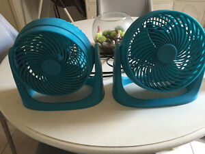 Blue table top fans. New condition