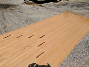 Bowling alley wood: great for making tables and other projects