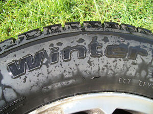 Four Goodrich Winter Slalom tires with rims London Ontario image 2