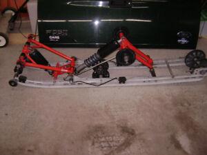 Holz rear snowmobile skid with fox shocks