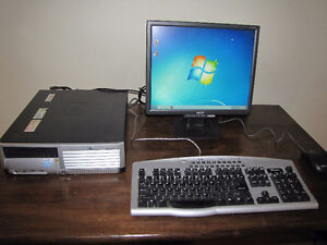 HP Small Form Factor Computer System running Windows 7