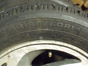 4 x P195/60R14 Goodyear Nordic Winter Tires & Rims Kawartha Lakes Peterborough Area image 3