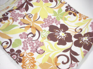 Brown and Yellow Flower Fabric 56x48 inches Sandy Hill