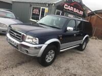 FORD RANGER 2.5 TURBO DIESEL 4X4 THUNDER DOUBLE CAB PICKUP PART EX WELCOME