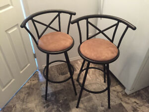 Bar height stool/chair x2 & air  mattressesx2