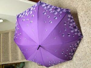umbrellas for wedding - 4 matching mauve/purple