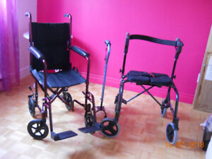 Fauteuil roulant - Canne