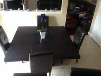 Beautiful 6 Piece Dining Table W/ Chairs