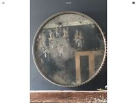 Aeroplane A-907 Crusader Fighter Plane Cowling Industrial Mirror Foxed Mercury