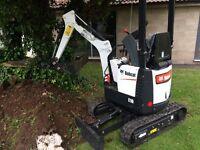 Mini digger hire Bristol dumper hire
