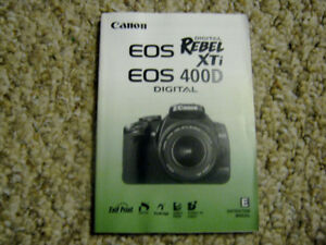 Canon EOS Rebel XTi 400D Instruction Manual