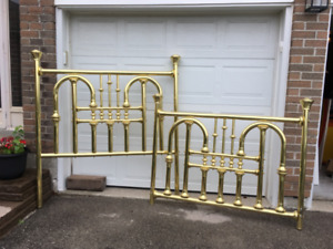 Beautiful Solid Brass,Queen Size Brass Headboard and footboard