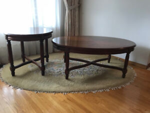 Coffee Table with Two Side Tables $250