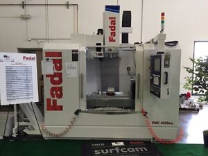 NEW FADAL VMC 4020 B-II vertical cnc mill w/probe and conveyor