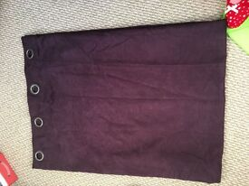 Plum suede curtains
