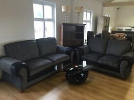 ***REDUCED FOR 1 WEEK ONLY*** 3+2 black and grey Toronto---ONLY £520***