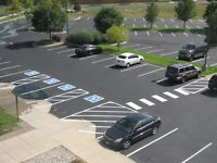 Professional Parking Lot Line Painting