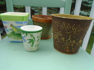 pot  à fleurs et cache - pots