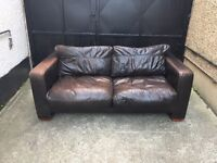 John Lewis 2 seater brown sofa •free delivery•£70