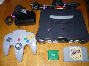 Nintendo 64, N64, 1 controller, memory card, Zelda Ocarina