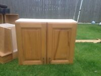 Solid wood kitchen wall cabinets, and base drawer unit! Up cycle!
