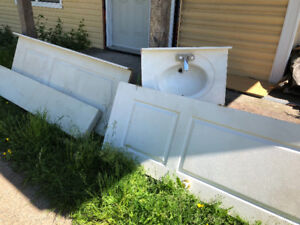 Free interior doors and sink top